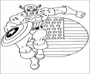 Printable superhero captain america 3 coloring pages