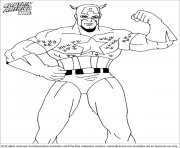 superhero captain america 222 coloring pages