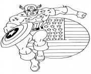 Printable captain america 02 coloring pages