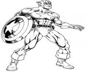 superhero captain america 32 coloring pages