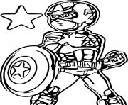 Printable superhero captain america 281 coloring pages