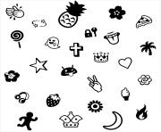 Printable emoji cool coloring pages