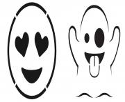 Print emoji pumpkin carving stencils_278277 coloring pages