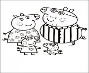 peppa pig cartoon free color pages for kids coloring pages