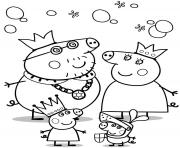 Print cartoon peppa pig coloring pages