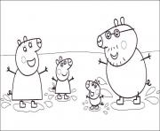 Printable happiness family peppa pig coloring pages