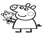 pretty peppa pig coloring pages