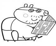 Printable peppa pig reading journal coloring pages