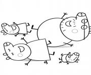 peppa pig relax sun coloring pages