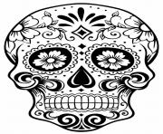 Print simple sugar skull coloring pages