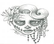 Print sugar skull two by leelab d4yyhdt coloring pages