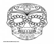 Print Halloween Coloring Page Sugar Skull coloring pages