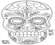 simple sugar skull hd adult coloring pages