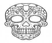 sugar skull coloring pages coloring pages