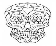 Printable free printable sugar skull coloring pages