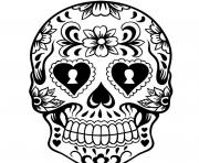 Printable Day of the Day Sugar Skull coloring pages