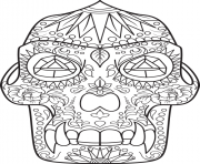 Printable sugar skull dino coloring pages