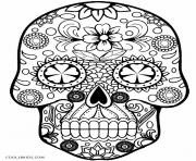 Skull simple coloring pages