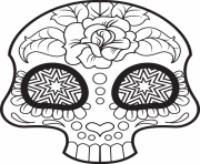 mini cute sugar skull coloring pages