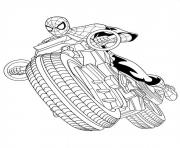 Printable ultimate spiderman spider manmotor coloring pages