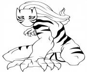 Printable ultimate spiderman white tiger coloring pages