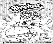 Printable shopkins wise fry cheddar coloring pages