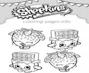 Printable shopkins cheeky chocolate and strawberry kiss coloring pages