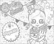 Printable shopkins popette official coloring pages