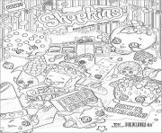 Printable shopkins we are open coloring pages