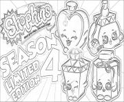 Printable shopkins season 4 limited edition coloring pages