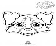 Print pet parade cute dog border collie 2 coloring pages