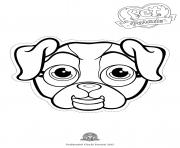 Print pet parade cute dog bouledogue 2 coloring pages