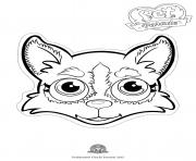 Printable pet parade cute dog husky 2 coloring pages