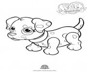 Print pet parade cute dog dalmatian coloring pages