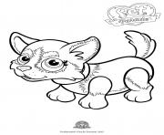 Printable pet parade cute dog husky coloring pages