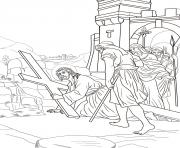 Print good friday 3 third station jesus falls the first time coloring pages