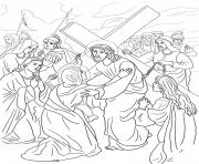 Print good friday 4 fourth station jesus meets his mother coloring pages