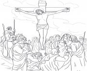 Print good friday 12 twelfth station jesus dies on the cross coloring pages