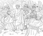 good friday 4 jesus arrested in the garden of gethsemane coloring pages