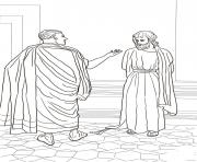 Print good friday 7 jesus and pilate by nikolai ge coloring pages