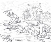 Print good friday 11 eleventh station jesus is nailed to the cross coloring pages