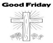 Print good friday christianity coloring pages