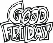 Print good friday logo coloring pages