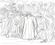Print good friday 3 judas betrays jesus with a kiss by gustave dore (1) coloring pages