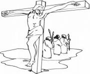 good friday jesus coloring pages