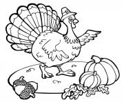 printable thanksgiving turkey and pumpkin979a coloring pages