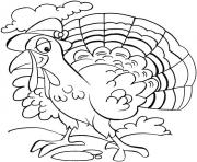 Printable turkey thanksgiving s children free96ba coloring pages