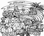 Printable harvest cornucopia thanksgiving s to print10c2 coloring pages