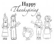 indian and pilgrim family s printable thanksgivinga47f coloring pages