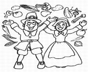 pilgrim boy and girl thanksgiving s to print3b5d coloring pages